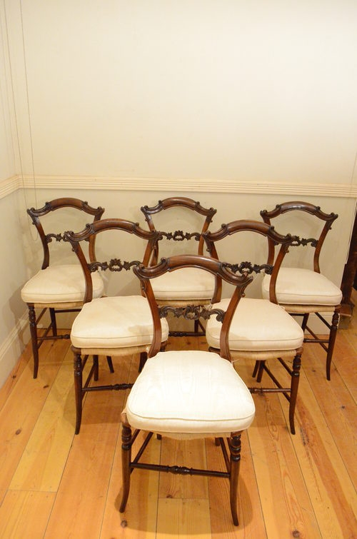 6 Early Victorian Rosewood Chairs