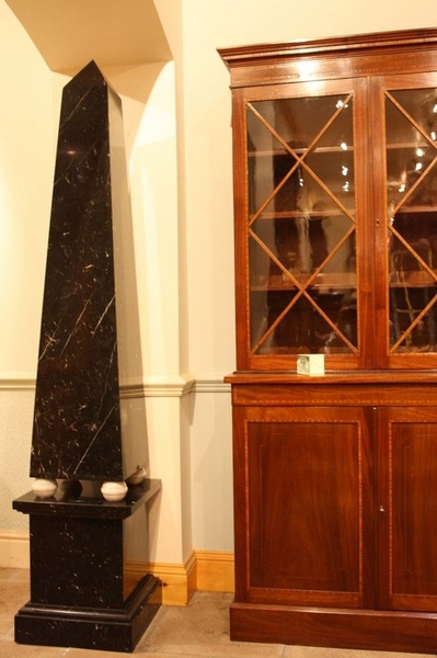 Antique Black Marble Obelisk