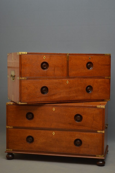 Antique Military Chest of Drawers sn2623