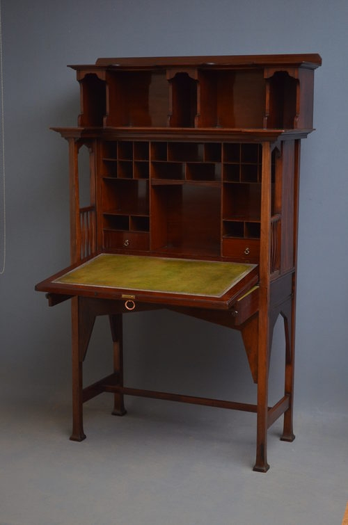 Antique Arts and Crafts Bureau by Shapland and Petter  sn2749