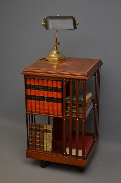 Antique Edwardian Revolving Bookcase sn2782