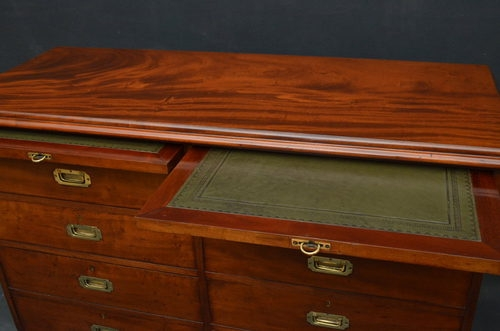 Antique Early Victorian Campaign Chest of Drawers Sn2822