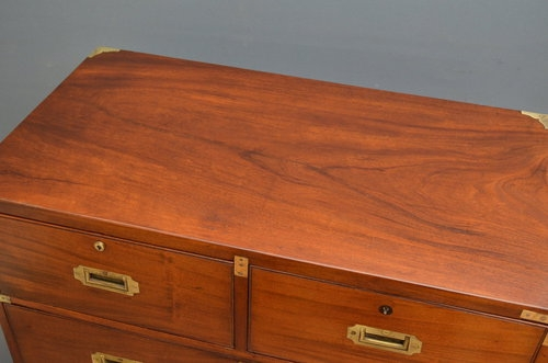 Antique Victorian Military Chest of Drawers Sn2847