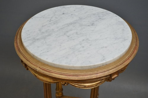 Antique Late Victorian Gilt Table Sn2839