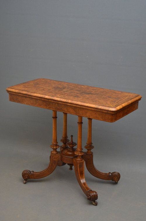 Victorian Game Table Sn2851