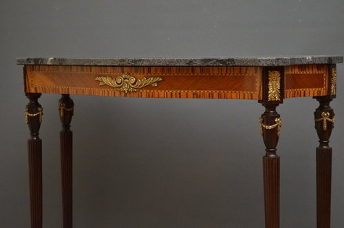 Antique Continental Console Table Sn2869
