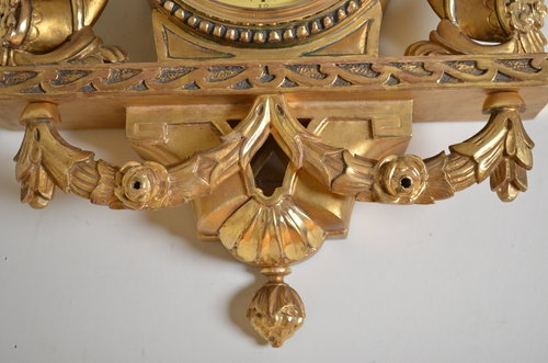 Antique Gilded Wall Clock sn2859