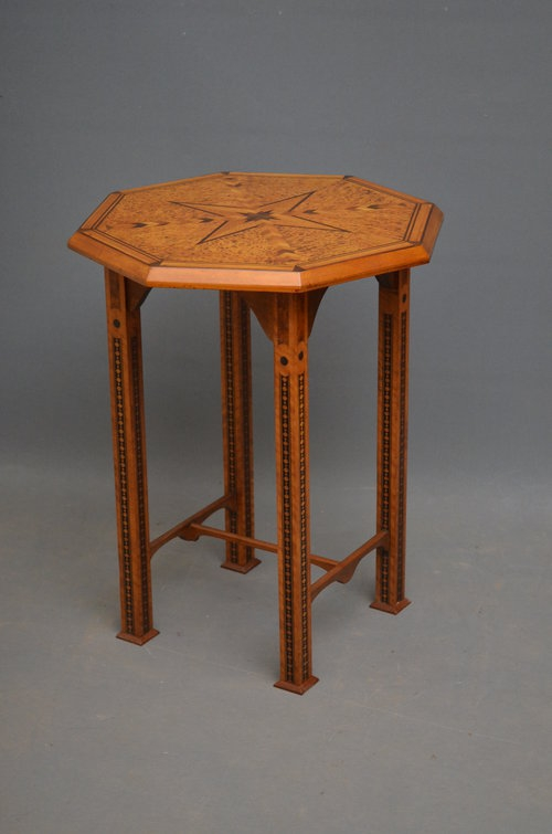 Antique Aesthetic Movement Occasional Table Sn2933
