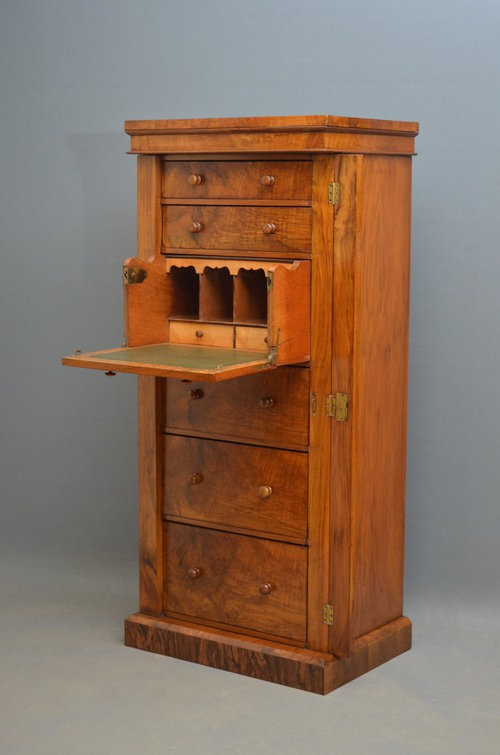 Superb Victorian Wellington Chest with Secretaire  Sn2915