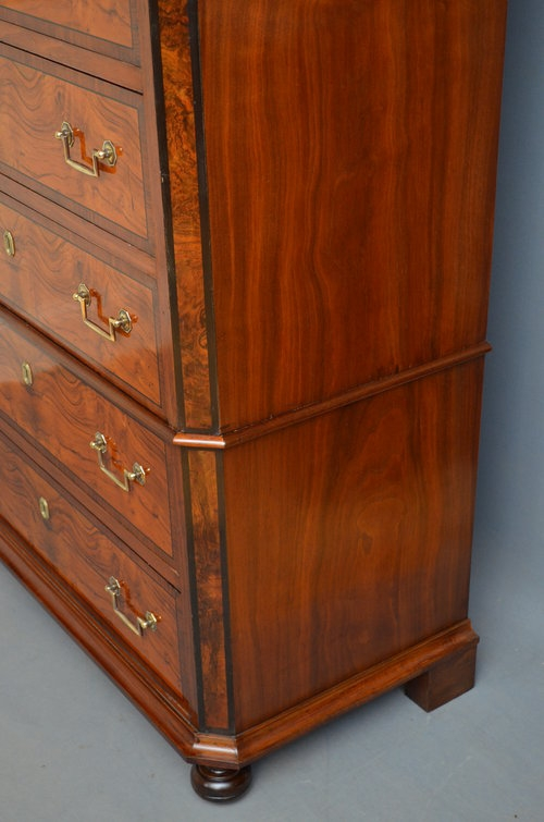 Antique Continental Chest on Chest - Tall Boy Sn2970
