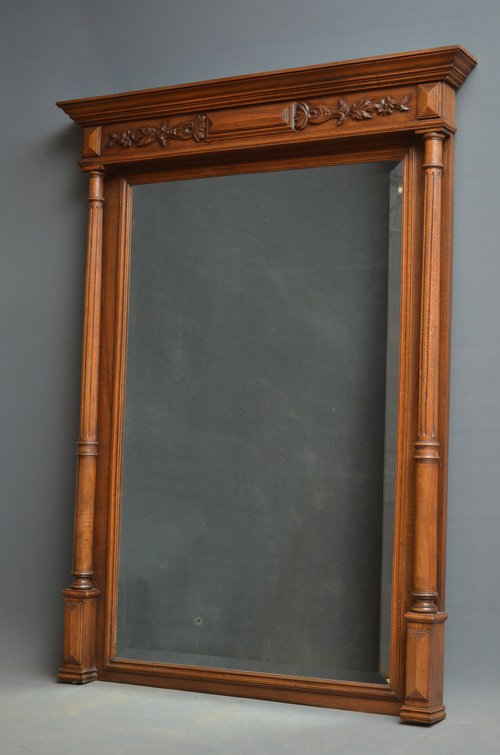 Victorian Oak Wall Mirror Sn2980