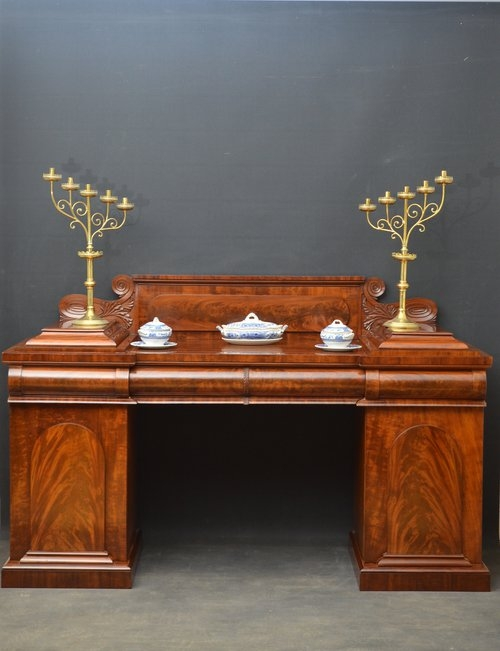 Fine William IV Pedestal Sideboard sn782
