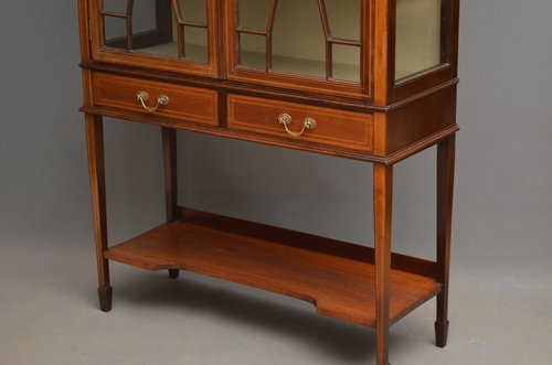 Antique Edwardian Display Cabinet - China Cabinet Sn3008