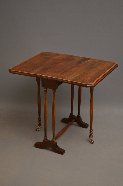 Antique Edwardian Sutherland Table - Mahogany Table Sn3030