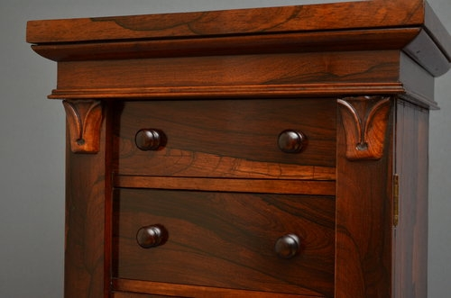 Antique Fine William IV Wellington Chest of Drawers Sn3088