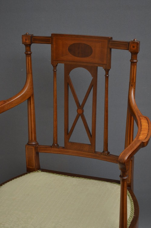 Antique Edwardian Occasional Chair Sn3077