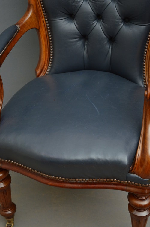 Antique Excellent Victorian Desk Chair - Office Chair Sn002
