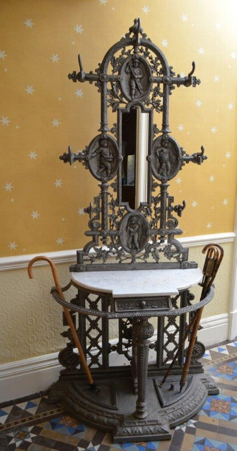Excellent Victorian Cast Iron Hall Stand Sn020