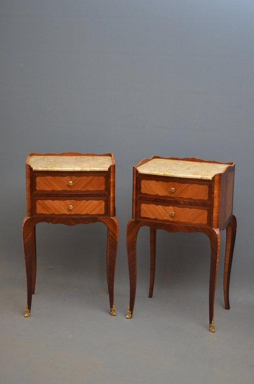 Pair Of Tulipwood Bedside Cabinets Sn3148