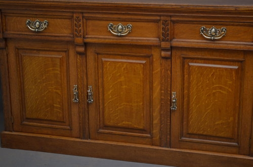Antique Attractive Victorian Oak Sideboard Sn3232