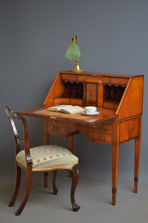 Stunning Regency Satinwood Bureau Sn3221