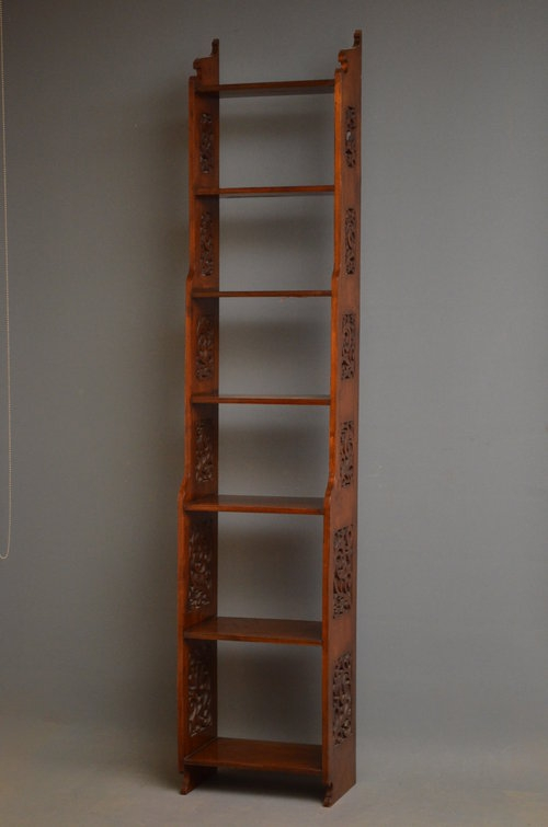 Antique Late Victorian Waterfall Bookcase Sn3182