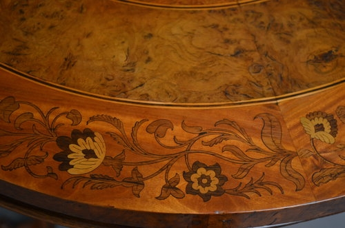 Antique Stunning Victorian Inlaid Occasional Table Sn035