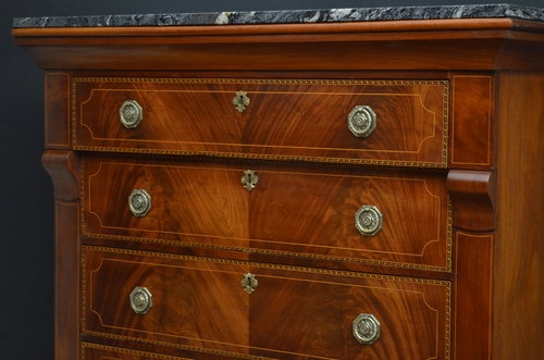 Antique Exceptional Continantal Tall Chest of Drawers Sn3372