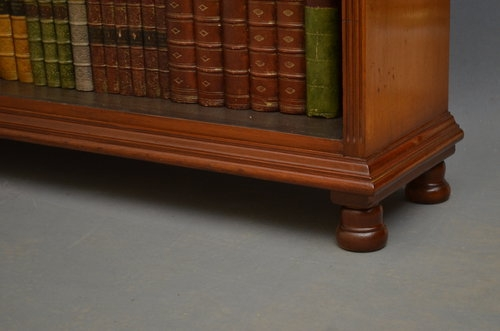 Antique Victorian Open Bookcase in Mahogany Sn3229