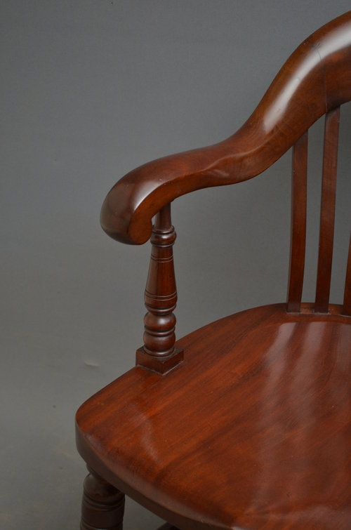 Antique Late Victorian Mahogany Desk Chair Sn3407