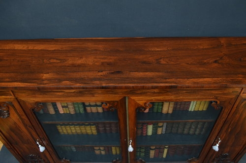 Antique Fine Regency / William IV Rosewood Bookcase Sn3440