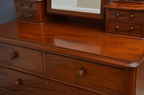 Antique Victorian Mahogany Dressing Chest Sn3484