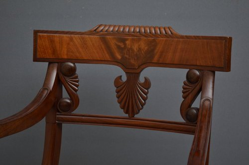 Antique Fine Quality Regency Carver Chair  Sn3473