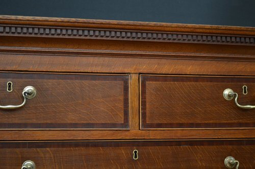 Antique Georgian Oak Chest on Chest Sn3497