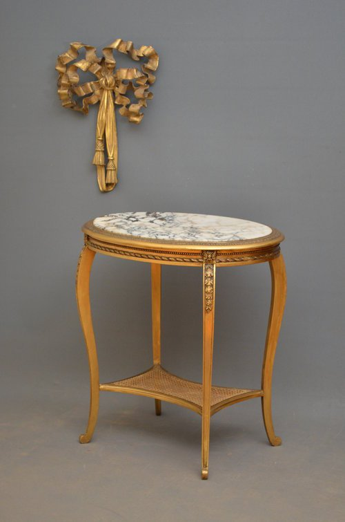 Attractive French Gilt Occasional Table Sn3521
