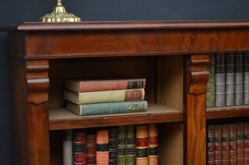 Antique Elegant Victorian Open Bookcase in Mahogany  Sn3523