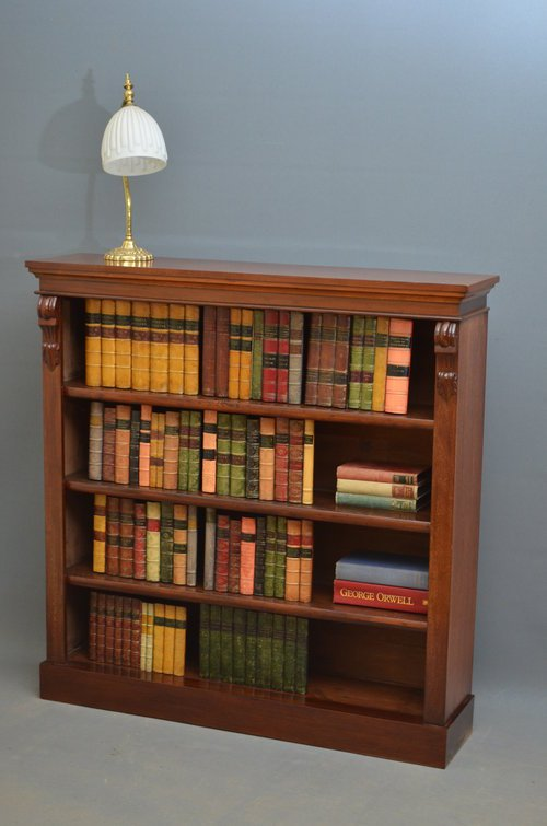 Victorian Open Bookcase in Mahogany Sn3512