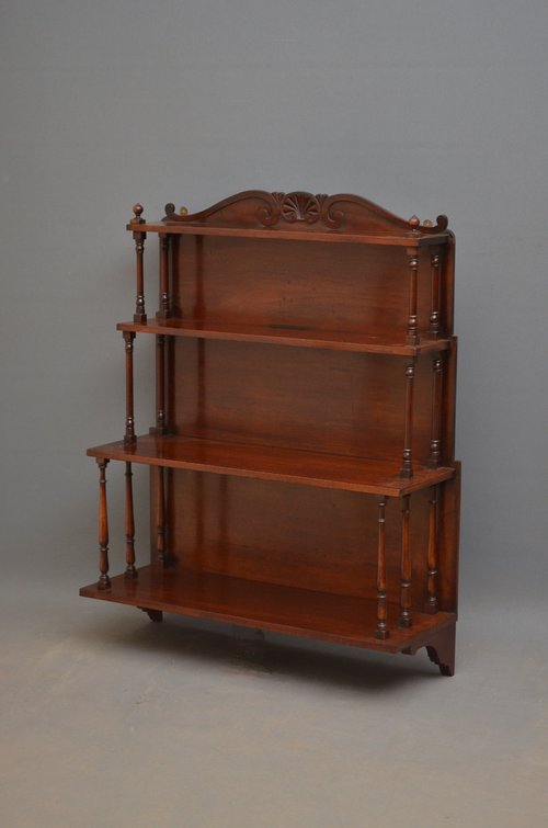 Regency Waterfall Wall Shelves in Mahogany