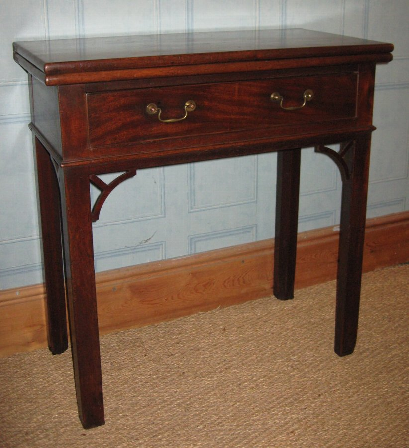 very small Chippendale period tea table