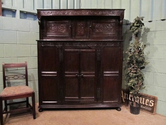 Antique Antique 17th Century William & Mary Oak Court Cupboard Press w6949/21.5