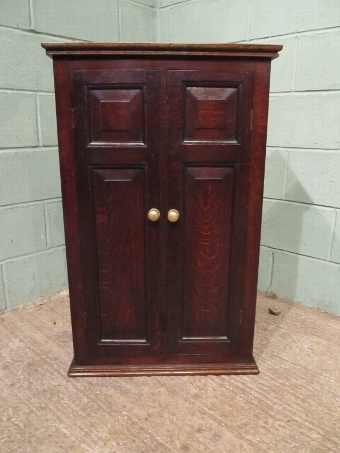 Antique ANTIQUE EARLY VICTORIAN COUNTRY OAK WALL CABINET
