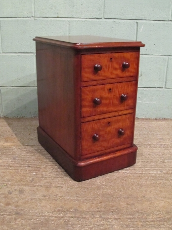 Antique ANTIQUE PAIR VICTORIAN MAHOGANY BEDSIDE CHEST OF DRAWERS W7115/15.10