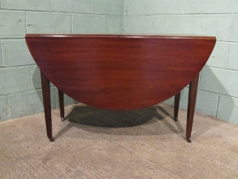 Antique ANTIQUE REGENCY MAHOGANY DROP LEAF GATE LEG DINING TABLE W7129/15.10
