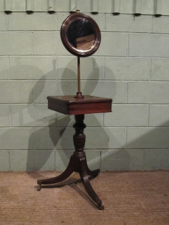 Antique Antique Edwardian Mahogany Gents Shaving Stand c1900 w7206/3.12