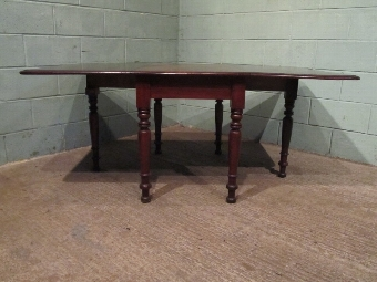 Antique Antique Large Victorian Mahogany Drop Leaf Dining Table c1880 w7207/12