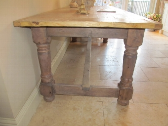 Antique Bespoke Hand Built & Traditional Peg Joined Dining Table 19thC