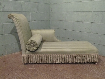 Antique ANTIQUE VERY PRETTY SMALL VICTORIAN CHAISE LONGUE DAY BED C1880 WJ6/14.1