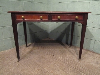 Antique ANTIQUE EDWARDIAN MAHOGANY WRITING TABLE DESK BY MAPLES & CO C1900 W7246/18.2