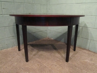 Antique ANTIQUE REGENCY MAHOGANY DEMI LUNE SIDE TABLE C1820 W7245/18.2