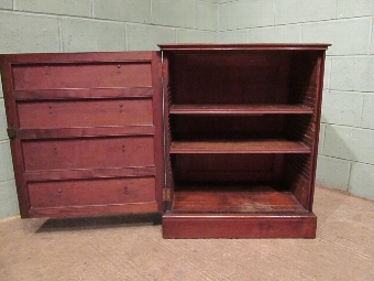 Antique ANTIQUE PAIR REGENCY MAHOGANY CABINETS (FALSE DRAWERS FRONTS) C1810 W7316/25.2